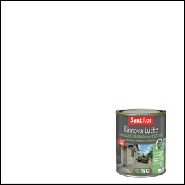 Vernice per esterno ad acqua Syntilor Rinnova Tutto bianco 0,75 L