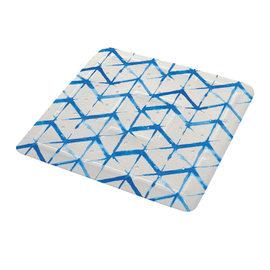 Tappeto antiscivolo doccia Shibori blu
