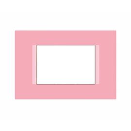 Placca 3 moduli FEB Flat rosa shocking n°6