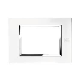 Placca 3 moduli Simon Urmet Nea Expì bianco perla