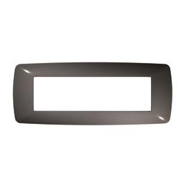Placca 7 moduli FEB Flexì Brio grigio scuro