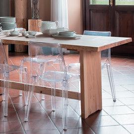 Tavolo Fratino legno L 200 x P 96 x H 82 cm grezzo