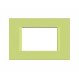 Placca 3 moduli FEB Flat pistacchio n°5