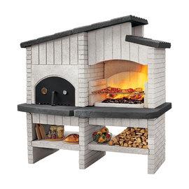 Barbecue in muratura con cappa e forno New Zealand