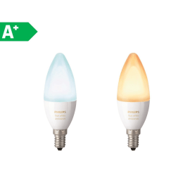 2 lampadine smart LED Philips Hue E14 =40W oliva luce CCT 220°