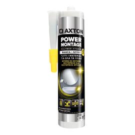 Colla di montaggio e fissaggio effetto chiodo Power Montage Axton bianco 200 ml