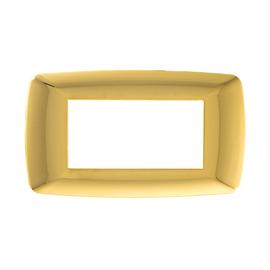 Placca 4 moduli FEB Flexì Brio oro