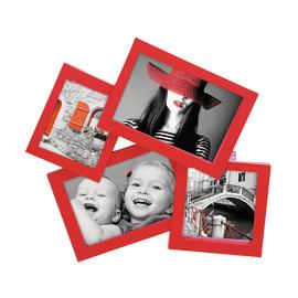Portafoto multiplo Storty rosso 4 foto