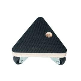 Carrello portatutto con piattaforma triangolare in legno, 3 ruote