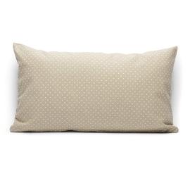 Fodera per cuscino Pois beige 30 x 50 cm