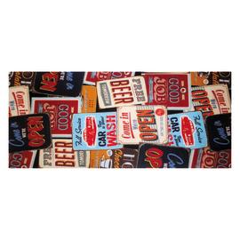 Tappetino cucina antiscivolo Digit rosso 52 x 130 cm