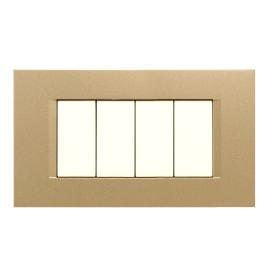 Placca 4 moduli FEB Flat oro