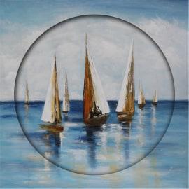 Dipinto a mano Sail boats 80x80
