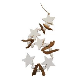 Decorazione stringa con stelle in legno