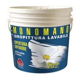 Idropittura lavabile bianca Boero Monomano 4 L
