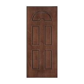Pannello per porta blindata Okoumè compensato marino noce L 80 x H 210 cm , spessore 14 mm