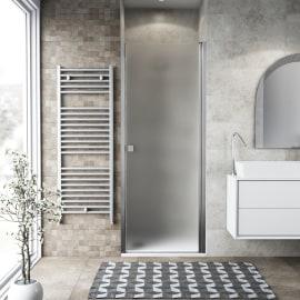 Porta doccia battente Neo 77-81, H 201,7 cm vetro temperato 6 mm cromo PVD