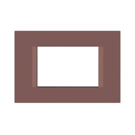 Placca 3 moduli FEB Flat talpa n°3