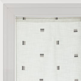 Tendina a vetro per finestra Nerea bianco 60 x 150 cm