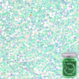 Glitter White Rainbow iridescente