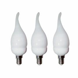 3 lampadine fluorescenti Lexman - E14 6W luce calda