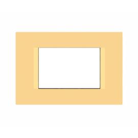Placca 3 moduli FEB Flat canarino n°6