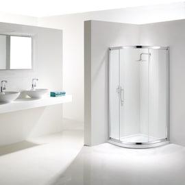 Box doccia scorrevole Namara 87-89,5, H 195 cm cristallo 8 mm trasparente/silver