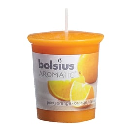 Candela cilindro ø 4,5 cm H 5,4 cm essenza arancia