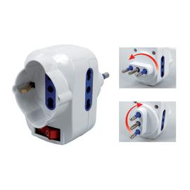 Adattatore 22055710/U multiplo 16A, bianco