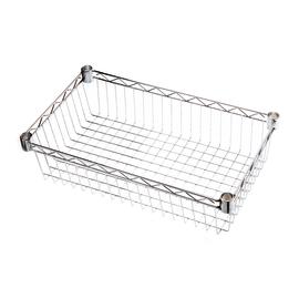Ripiano contenitore Spaceo Chrome Style+ L 60 x P 35 x H 4 cm
