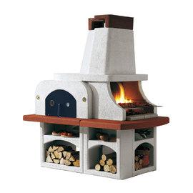 Barbecue in muratura con cappa e forno Parenzo