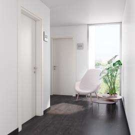 Porta per bed & breakfast battente Glasgow bianco 80 x H 210 cm dx