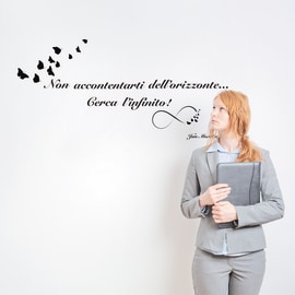 Wallsticker Words Up M L'infinito
