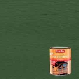 Vernice per esterno ad acqua Syntilor verde brillante 0,25 L