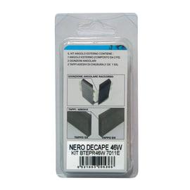 Angolare esterno in kit nero 20 x 50 x 110 mm