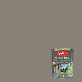 Vernice per esterno ad acqua Syntilor Rinnova Tutto marrone corteccia 0,75 L