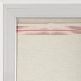 Tendina a vetro per finestra Matelas bianco e rosso 60 x 120 cm