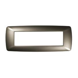 Placca 7 moduli FEB Flexì Brio acciaio satinato