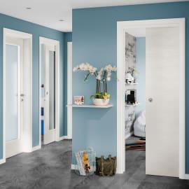Porta da interno battente Touch bianco matrix 80 x H 210 cm reversibile