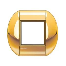 Placca 2 moduli BTicino Livinglight oro