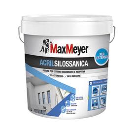 Pittura acrilsilossanica e elastomerica per esterno Max Meyer bianco 14 L