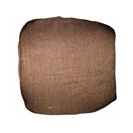 Cuscino per sedia con elastico Antonella marrone 40 x 40 cm