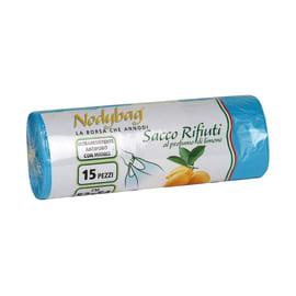 Sacco rifiuti Nodybag Limone 54 x 52 cm azzurro 15 pezzi