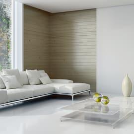 Perlina prima scelta abete verniciato spazzolato grigio cenere 12 x 120 x 2000 mm