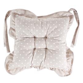 Cuscino per sedia double face Piumotto Pois ecru 40 x 40 cm