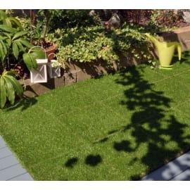 Piastrella erba sintetica 30 x 30  cm x 28  mm