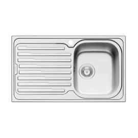 Lavello incasso Amaltia Dekor L 86 x P  50 cm 1 vasca DX + gocciolatoio