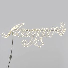 Scritta luminosa Auguri 840 Led classica gialla 7 m