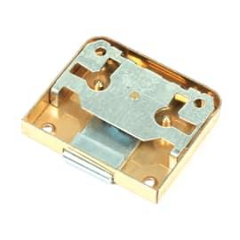 Serratura da applicare ottone lucido 56 x 30 x 9,5 mm