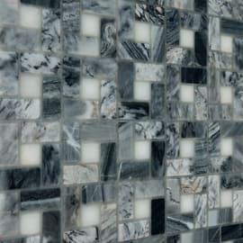 Mosaico Nido pietra 30,5 x 30,5 cm bianco, grigio